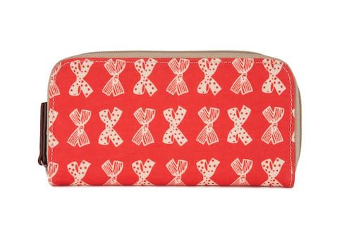 Pink Lining PENĚŽENKA červená s krémovými mašlemi