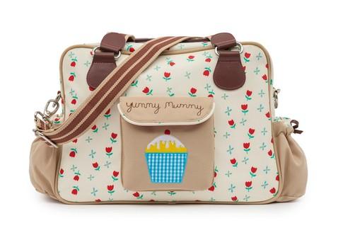 Pink Lining YUMMY MUMMY tulipány - přebalovací taška