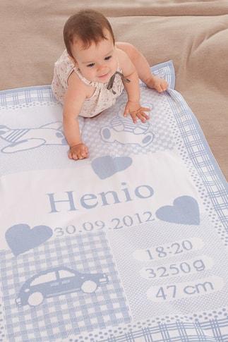 Martello Dětská deka s údaji o miminku
